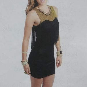 Zinga Dresses - 💛Black Glitter Fringed  Mini Dress ( S )💛